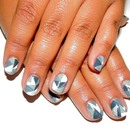 50 Shades of Grey Inspired/Geometric Nails
