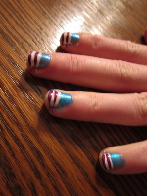 First attempt with Nail art deco Brushes :P Pretty rough