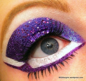 Purple Glittery Valentine's :)