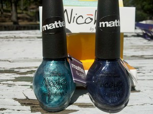 Nicole by OPI Matte's 'Respect the World - Matte' and 'No Limits - Matte'