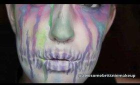 1 minute Watercolor Sugar Skull