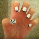 Zebra French Manicure
