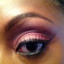 Soft pink/purple cut crease