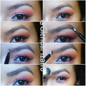 Step by step pictorial.  I use eyeshadow and an angled brush to fill in my eyebrows.  All you really have to do is lightly blend your desired shade into your brow to make them look natural.  It's very simple and easy.  #eyebrowgame  #MOTD