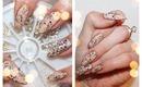 Glamorous Border Nail Art With Swarovski Crystals