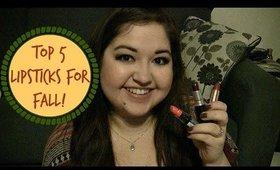 Top 5 Lipsticks for Fall + Kylie Jenner Lip Combo! // Megan Marshall