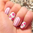 Valentines rose nails💅