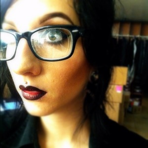 """Urban Decay's 24/7 eyeliner in """"perversion"""" as a lip liner ;) @Caitlin_noir"""