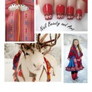 Nailart inspired by Sami culture in Norway