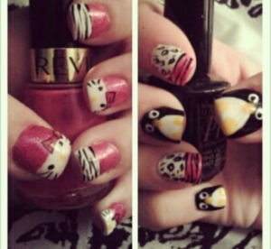 Hello kitty and penguins