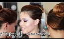 Top Knot French Twist Hair Tutorial ( Easy NO Heat!)   ~ Quick Wedding Hair~