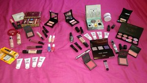 Me and Pam M's collective makeup haul ;)