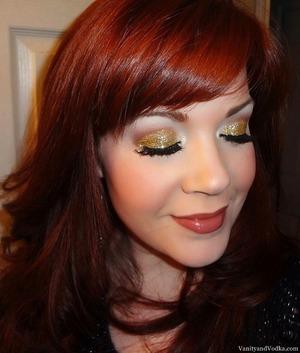 For more information, please visit: http://www.vanityandvodka.com/2013/05/gold-glitter.html xoxo! Colleen