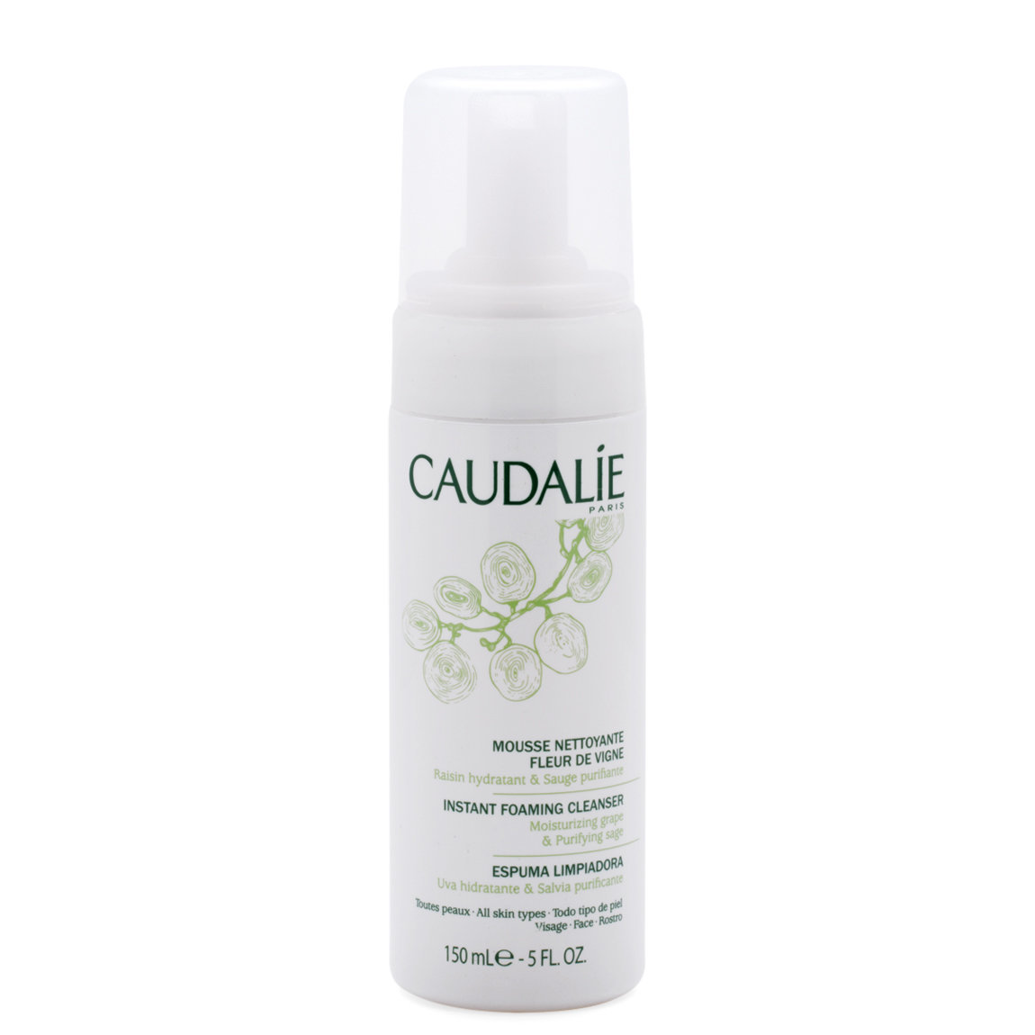 Caudalie Instant Foaming Cleanser 150 ml alternative view 1.