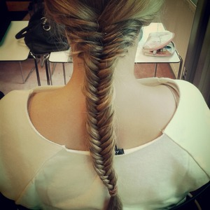 fish tail braid by myself