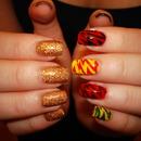 Flash Gordon inspired nails