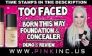 Too Faced Born This Way Foundation & Concealer | Demo & Review | Tanya Feifel-Rhodes