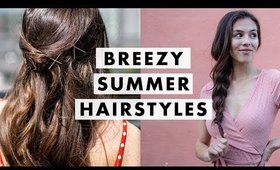 Easy Messy Summer Hairstyles | Luxy Hair