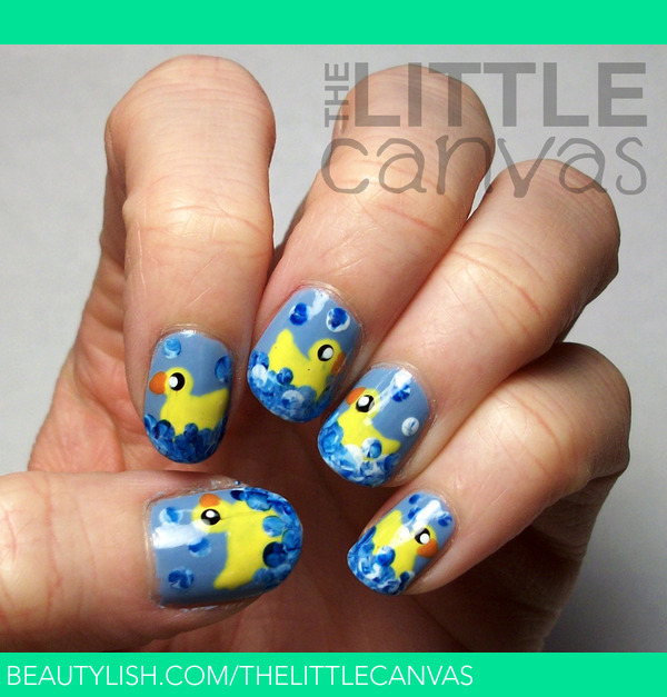 Rubber Ducky Nails | The Little Canvas A.'s ...