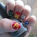 My Tokidoki Avengers style nails