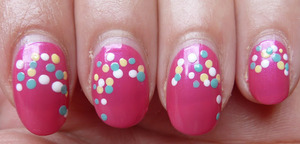 More photos of this manicure? Go to; http://nailsbystephanie.blogspot.com/2012/04/day-11-polka-dots.html