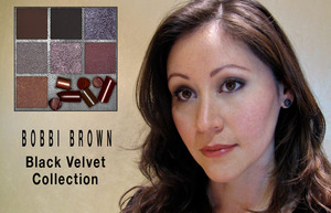 Wearing the Bobbi Brown Fall 2010 Black Velvet Collection