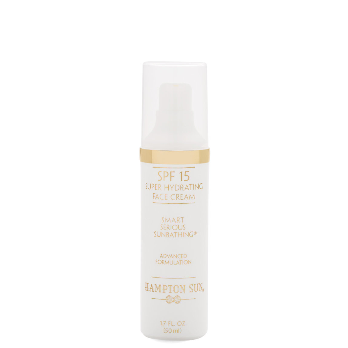 Hampton Sun SPF 15 Super Hydrating Face Cream product smear.
