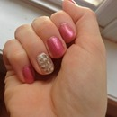 Feather Nail Art (right hand)