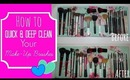 HOW TO:  QUICK & DEEP CLEAN YOUR  MAKEUP BRUSHES