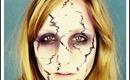 Cracked / Broken Scary Halloween Face Makeup