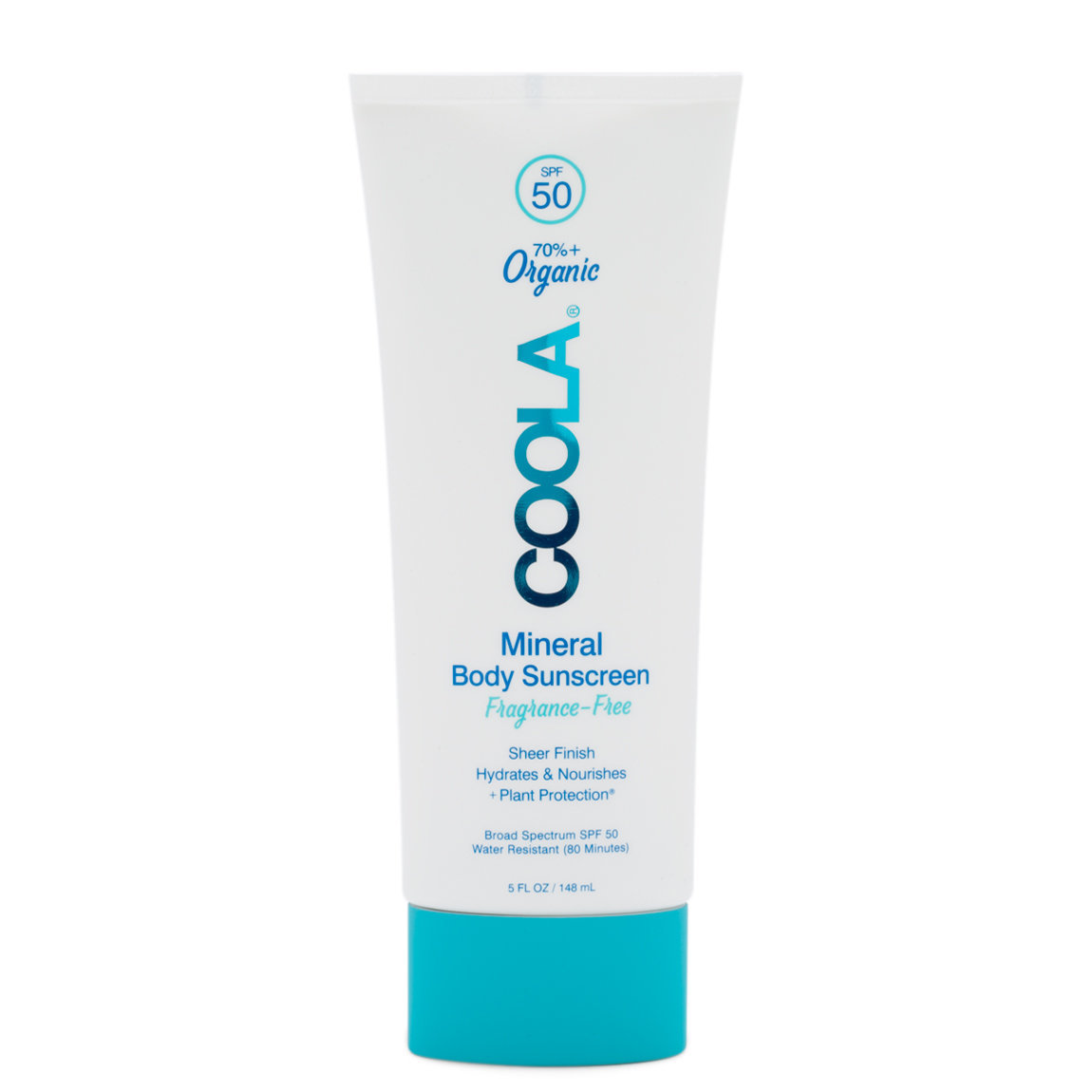COOLA Mineral Body Sunscreen Lotion SPF 50 product swatch.