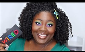 WIRED Palette Swatches and Tutorial on Dark Skin