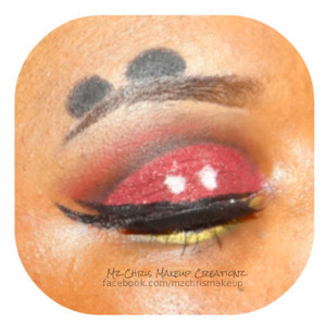 BH cosmetics 1st Edition   Eye Candy Cosmetics - Candy Apple Glitter  NYX Jumbo pencil- Milk  ELF pencil- Black