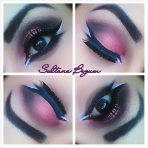 Pink and Black wing Arabic eyes.