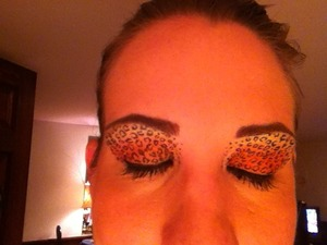 First attempt at the Leopard Eye look earlier this year.