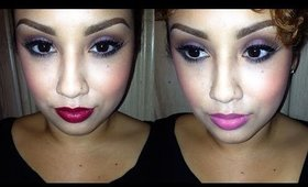Tutorial: Purple Smokey Eye + 2 Lip Colors