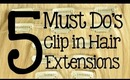 5 Must Do's - How to Care for Clip in Hair Extensions | Instant Beauty ♡