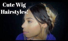 Cute Ways to Style A Synthetic Wig (No Leave Out) Lazy Hair Hacks!
