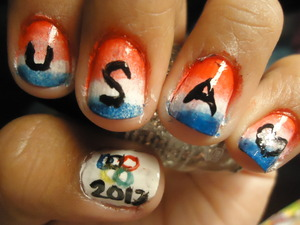 Olympic Inspired nails Team USA