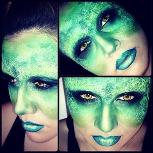 I used several products to create this look...most of them were Ben Nye and Inglot.