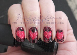 Shattered Hearts Nails (http://polishedindulgence.blogspot.com/2012/02/nail-art-wednesday-shattered-hearts.html)