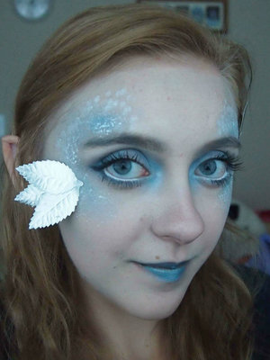 This was today's look of a winter fairy!