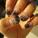 Black Glitter Gel Nails