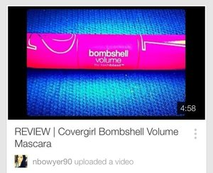 Heyyy guys! Go visit my youtube channel youtube.com/nbowyer90 to see my thoughts on the Bombshell Volume mascara by Covergirl 😏💁