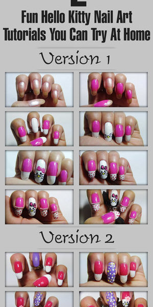 I can't stress on how super popular, cute and adorable hello kitties are. Without talking too much, I'll quickly take you on a tour of the cutest nail art – get set ready! http://www.stylecraze.com/articles/fun-hello-kitty-nail-art-tutorials-you-can-try-at-home/
