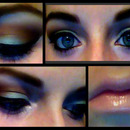 Soft Blue and Brown Makeup