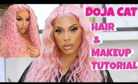 DOJA CAT INSPIRED HAIR & MAKEUP TUTORIAL