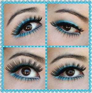 "Finally got to try ""caterpillar"" lashes! Elegant Lashes #040 black on top, #602 black on bottom. Available at FalseEyelashesSite.com"