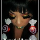 Glama Girl Cosmetics Christmas Inspired Look