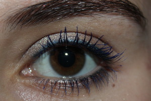 Blue eyeliner and lashes today!
